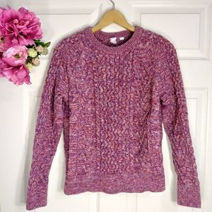 GAP purple white knit sweater